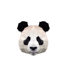 Polygonal panda head logo design vector