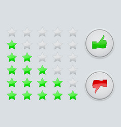 rating green stars interface element vector image