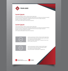 red triangle annual report brochure flyer design vector image