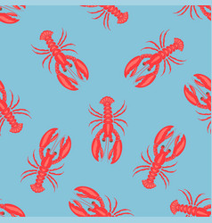 simple lobster pattern vector image