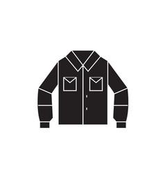 sport shirt black concept icon sport shirt vector image