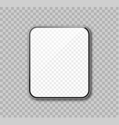 tablet realistic mockup vector image