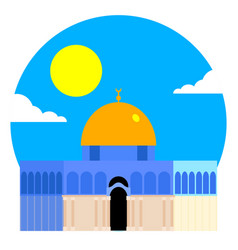 The dome of the rock qubbet el-sakhra vector