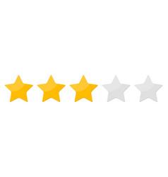 three 3 star rank background vector image