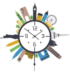 Travel clock vector
