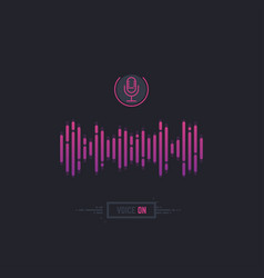 Voice assistant banner vector