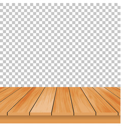 wood table on a isolated background stylish design vector image