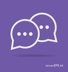 chat online outline icon white color vector image vector image