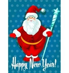 Happy New Year card Santa symbol vector image vector image