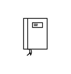 notebook icon vector image