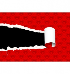 torn valentines day paper vector image vector image