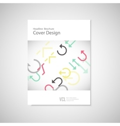 arrows set on a white brochure vector image