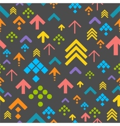Colorful Arrow Background on Dark vector image