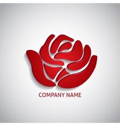 Company logo red rose vector