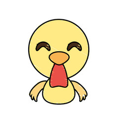 draw chicken animal comic vector image vector image