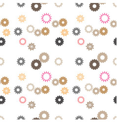 gears seamless vector image vector image