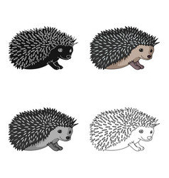 hedgehoganimals single icon in cartoon style vector image vector image