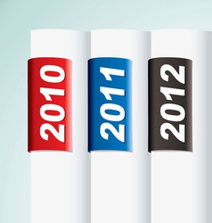 new year date collection vector image