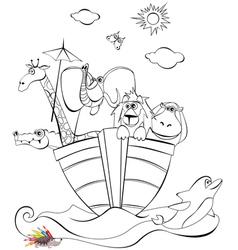 Noah arc vector image vector image