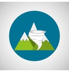 snowy mountains tornado weather concept design vector image