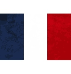 True proportions France flag with texture vector image vector image