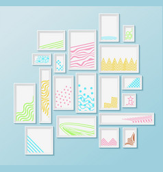 different pictire frames with simple colorful vector image vector image