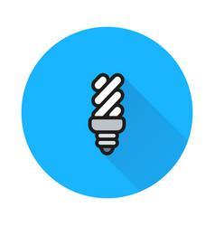 energy saving light bulb on round background vector image