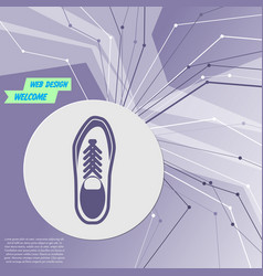 low shoe icon on purple abstract modern vector image