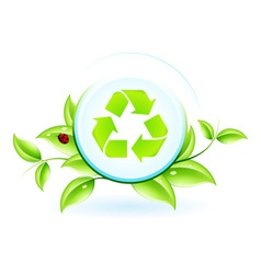 Recycling Symbol with Leaves vector image vector image