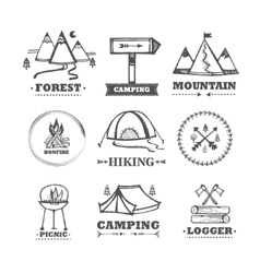 Set of logos camping vector image vector image