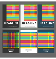 Set six book covers background of colored squares vector image vector image