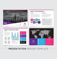 company presentation templates vector image
