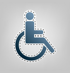 disabled sign blue icon with vector image vector image