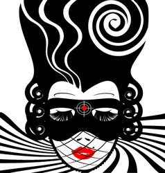 image of an dame in mask-target vector image