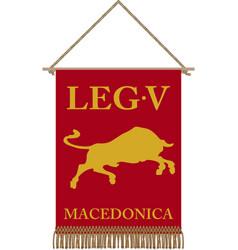 Legio v macedonica vii standard vector