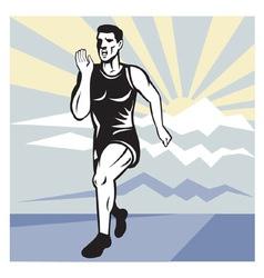 marathon road runner jogger fitness trai vector image vector image