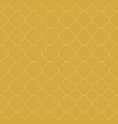 Quatrefoil seamless pattern background in golden vector