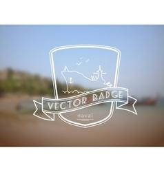 retro nautical badge vector image vector image