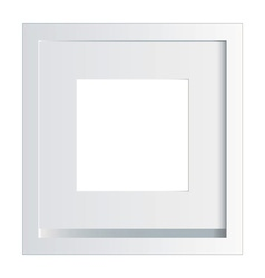 white picture or photo frame vector image vector image