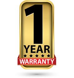 1 year warranty golden label vector