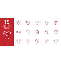 15 t icons vector image
