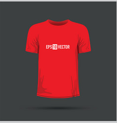 A red t-shirt vector