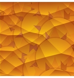 Abstract 3D geometric orange background vector