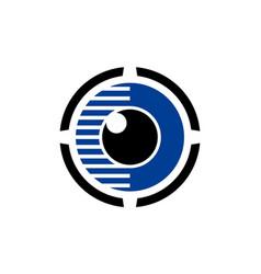 abstract eyeball eye vision logo icon vector image