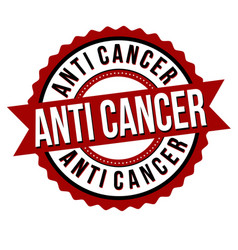 anti cancer label or sticker vector image