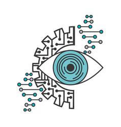 Artificial intelligence surveillance eye visual vector
