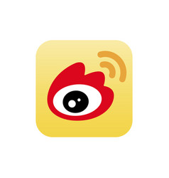 astana kazakhstan -20 july 2020 weibo icon weibo vector image