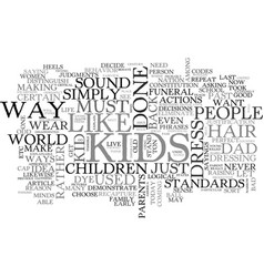 back when i was a kid text word cloud concept vector image