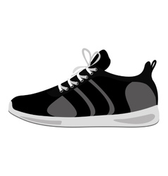 black Fitness sneakers design icon vector image