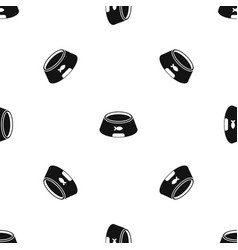 bowl for animal pattern seamless black vector image